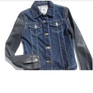 Carmar LF women's denim jacket with black sleeves